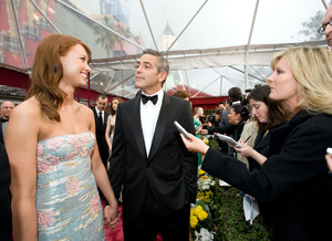 """""""Academy Awards - 80th Annual"""" (Arrivals)Sarah Larson, George Clooney2-24-08 Photo By Richard Harbaugh © 2008 A.M.P.A.S. - Image 23359_0178"""