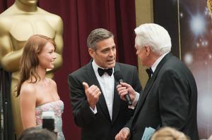 """Academy Awards - 80th Annual"" (Arrivals)Sarah Larson, George Clooney, Robert Osborne2-24-08 Photo By Matt Petit © 2008 A.M.P.A.S. - Image 23359_0196"