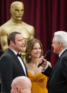 """Academy Awards - 80th Annual"" (Arrivals)John Travolta, Kelly Preston, Robert Osborne2-24-08 Photo By Matt Petit © 2008 A.M.P.A.S. - Image 23359_0200"