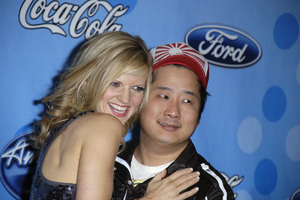 """American Idol Top 12 Party - Arrivals""Arden Myrin, Bobby Lee03-06-2008 / Pacific Design Center / West Hollywood, California / Photo by Andrew Howick - Image 23387_0006"