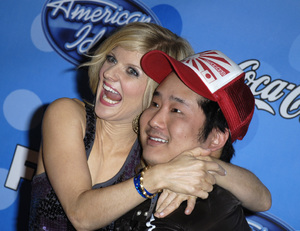 """American Idol Top 12 Party - Arrivals""Arden Myrin, Bobby Lee03-06-2008 / Pacific Design Center / West Hollywood, California / Photo by Andrew Howick - Image 23387_0008"