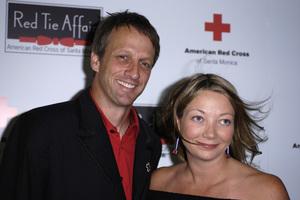 """Santa Monica Red Cross Red Tie Affair""Tony Hawk and Lhotse Merriam03-15-2008 / Fairmont Miramar Hotel / Santa Monica, CA / Photo by Andrew Howick - Image 23392_0007"