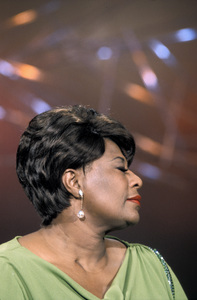 "Ella Fitzgerald performing for an NBC special entitled ""Frank Sinatra: A Man and His Music + Ella + Jobim""1967 © 1978 Ed Thrasher - Image 2353_0108"