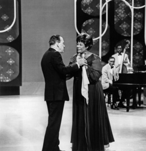 "Ella Fitzgerald and Ed Sullivan on ""The Ed Sullivan Show""circa 1960s** I.V.M. - Image 2353_0115"