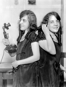 Violet and Daisy Hilton with phones1926** I.V. - Image 23543_0005