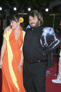 """Tropic Thunder"" Premiere Jack Black, Tanya Haden 8-11-2008 / Mann Village Theater / Los Angeles, CA / Dreamworks / Photo by Max Rodeo - Image 23587_0038"