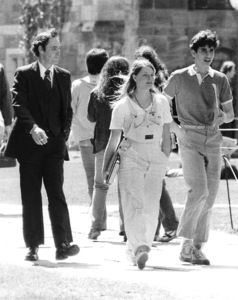 Jodie Foster with Bodyguard at Yale University April 19, 1981,  **I.V. - Image 2365_0027
