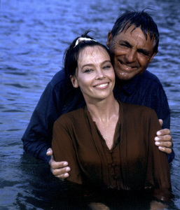 """""""Father Goose""""Leslie Caron, Cary Grant1964 Universal Pictures © 1978 Leo Fuchs  - Image 23694_0020"""