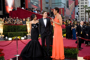"""""""The 81st Annual Academy Awards"""" (Arrivals)Vanessa Hudgens, Zac Efron, Robin Roberts02-22-2009Photo by Armando Flores © 2009 A.M.P.A.S. - Image 23704_0169"""