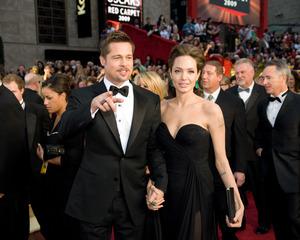 """The 81st Annual Academy Awards"" (Arrivals)Brad Pitt, Angelina Jolie02-22-2009Photo by Jon Didier © 2009 A.M.P.A.S. - Image 23704_0203"