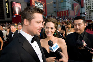 """The 81st Annual Academy Awards"" (Arrivals)Brad Pitt, Angelina Jolie02-22-2009Photo by Jon Didier © 2009 A.M.P.A.S. - Image 23704_0205"