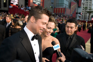 """The 81st Annual Academy Awards"" (Arrivals)Brad Pitt, Angelina Jolie02-22-2009Photo by Jon Didier © 2009 A.M.P.A.S. - Image 23704_0206"