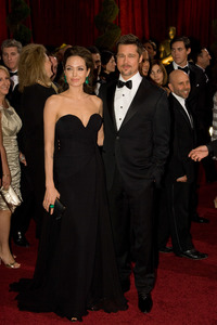 """""""The 81st Annual Academy Awards"""" (Arrivals)Angelina Jolie, Brad Pitt02-22-2009Photo by Bryan Crowe © 2009 A.M.P.A.S. - Image 23704_0244"""