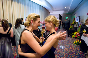 """The 81st Annual Academy Awards"" (Backstage)Kate Winslet, Reese Witherspoon02-22-2009Photo by Todd Wawrychuk © 2009 A.M.P.A.S. - Image 23704_0269"