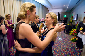 """The 81st Annual Academy Awards"" (Backstage)Kate Winslet, Reese Witherspoon02-22-2009Photo by Todd Wawrychuk © 2009 A.M.P.A.S. - Image 23704_0270"