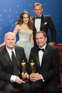 """The 81st Annual Academy Awards"" (Backstage)Donald Graham Burt, Victor J. Zolfo, Sarah Jessica Parker, Daniel Craig02-22-2009Photo by Todd Wawrychuk © 2009 A.M.P.A.S. - Image 23704_0279"