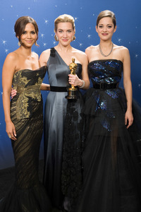 """The 81st Annual Academy Awards"" (Backstage)Halle Berry, Kate Winslet, Marion Cotillard02-22-2009Photo by Todd Wawrychuk © 2009 A.M.P.A.S. - Image 23704_0282"