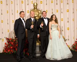 """The 81st Annual Academy Awards"" (Press Room)Donald Graham Burt, Victor J. Zolfo, Daniel Craig, Sarah Jessica Parker02-22-2009Photo by Bryan Crowe © 2009 A.M.P.A.S. - Image 23704_0294"