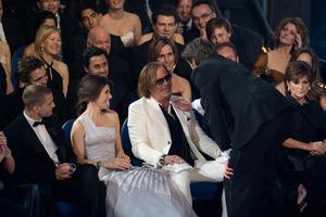 """The 81st Annual Academy Awards"" (Telecast)Hugh Jackman, Mickey Rourke02-22-2009Photo by Darren Decker © 2009 A.M.P.A.S. - Image 23704_0425"