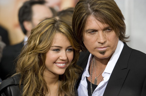 """Hannah Montana: The Movie"" (Premiere)Miley Cyrus, Billy Ray Cyrus04-02-2009 / El Capitan Theatre / Hollywood, CA / Walt Disney Pictures / Photo by Benny Haddad - Image 23710_0058"