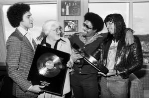Rick James receiving his first gold album and single with Skip Miller, Barney Ales, Art Stewart, 1978 © 1978 Bobby Holland - Image 23742_0007