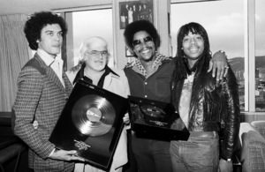 Rick James receiving his first gold album and single with Skip Miller, Barney Ales, Art Stewart, 1978 © 1978 Bobby Holland - Image 23742_0008