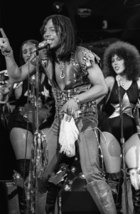 Rick James and the Stone City Band performing live during the taping of a television show in Hollywood1979© 1979 Bobby Holland - Image 23742_0023