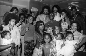 """Rick James during an in-store sales promotion at Freeway Record Store in Los Angeles for the album """"Bustin"""
