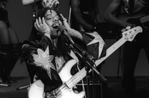Rick James and the Stone City Band performing live during the taping of a television show in Hollywood1979© 1979 Bobby Holland - Image 23742_0038