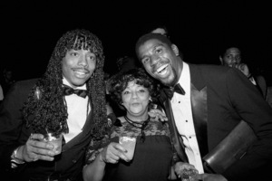 "Rick James and Earvin ""Magic"" Johnsoncirca 1979© 1979 Michael Jones - Image 23742_0129"