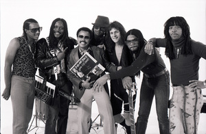 Rick James and Alonzo Miller with Stone City Band in Los Angeles, 1981 © 1981 Bobby Holland - Image 23745_0002