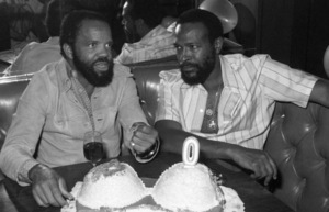 Berry Gordy Jr. and Marvin Gaye at Marvin Gaye
