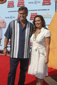 """Cloudy with a Chance of Meatballs"" Premiere Bruce Campbell and Ida Gearon9-12-2009 / Mann Village Theater / Westwood, CA / Columbia Pictures / Photo by Joelle Leder - Image 23792_0003"