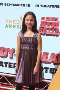 """""""Cloudy with a Chance of Meatballs"""" Premiere Grace Rolek9-12-2009 / Mann Village Theater / Westwood, CA / Columbia Pictures / Photo by Joelle Leder - Image 23792_0014"""