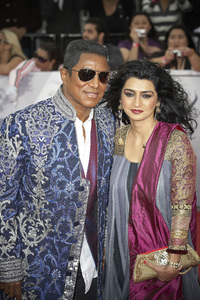 """This Is It"" PremiereJermaine Jackson, Halima Rashid10-27-2009 / Nokia Theatre L.A. Live / Los Angeles, CA / Columbia Pictures / Photo by Benny Haddad - Image 23803_0131"