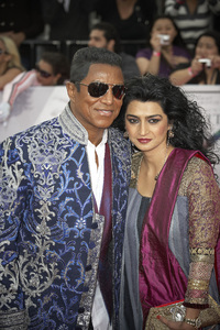 """This Is It"" PremiereJermaine Jackson, Halima Rashid10-27-2009 / Nokia Theatre L.A. Live / Los Angeles, CA / Columbia Pictures / Photo by Benny Haddad - Image 23803_0132"