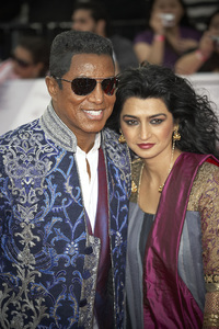 """""""This Is It"""" PremiereJermaine Jackson, Halima Rashid10-27-2009 / Nokia Theatre L.A. Live / Los Angeles, CA / Columbia Pictures / Photo by Benny Haddad - Image 23803_0133"""