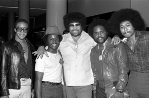 Michael Moore, Terry Santiel, Norman Whitfield, Kenji Brown in Los Angeles 1978 © 1978 Bobby Holland - Image 23841_0001