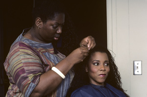 Patrice Rushen and hair stylist Sibongile Bradley1984© 1984 Bobby Holland - Image 23854_0008