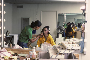 Patrice Rushen and make-up artist Tara Posey1984© 1984 Bobby Holland - Image 23854_0009