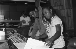Patrice Rushen with Charles Mims Jr. and Philip S. Moores at Conway Recording Studioscirca 1980© 1980 Bobby Holland - Image 23854_0019