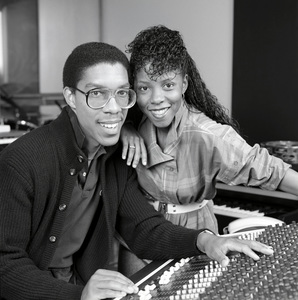 Patrice Rushen with Charles Mims Jr. at Conway Recording Studios1984© 1984 Bobby Holland - Image 23854_0023