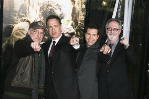 """The Pacific"" PremiereSteven Spielberg, Tom Hanks, Jon Seda, Gary Goetzman2-24-2010 / Grauman"