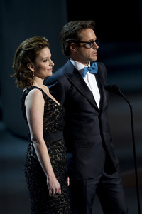 """The Academy Awards - 82nd Annual"" (Telecast)Tina Fey, Robert Downey Jr.3-7-2010Photo by Matt Petit © 2010 A.M.P.A.S. - Image 23908_0021"