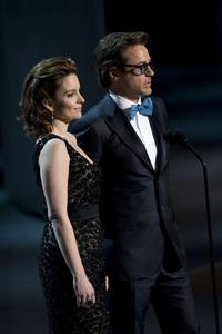 """The Academy Awards - 82nd Annual"" (Telecast)Tina Fey, Robert Downey Jr.3-7-2010Photo by Matt Petit © 2010 A.M.P.A.S. - Image 23908_0021"