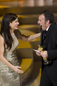 """The Academy Awards - 82nd Annual"" (Telecast)Sandra Bullock, Mauro Fiore3-7-2010Photo by Matt Petit © 2010 A.M.P.A.S. - Image 23908_0035"