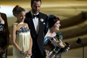 """""""The Academy Awards - 82nd Annual"""" (Telecast)Sarah Jessica Parker, Tom Ford, Sandy Powell3-7-2010Photo by Matt Petit © 2010 A.M.P.A.S. - Image 23908_0068"""