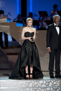 """The Academy Awards - 82nd Annual"" (Telecast) Carey Mulligan, Morgan Freeman 3-7-2010 Photo by Michael Yada © 2010 A.M.P.A.S. - Image 23908_0077"