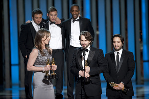 """""""The Academy Awards - 82nd Annual"""" (Telecast)Kathryn Bigelow, Mark Boal, Greg Shapiro3-7-2010Photo by Michael Yada © 2010 A.M.P.A.S. - Image 23908_0130"""