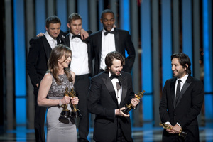 """""""The Academy Awards - 82nd Annual"""" (Telecast)Kathryn Bigelow, Mark Boal, Greg Shapiro3-7-2010Photo by Michael Yada © 2010 A.M.P.A.S. - Image 23908_0131"""